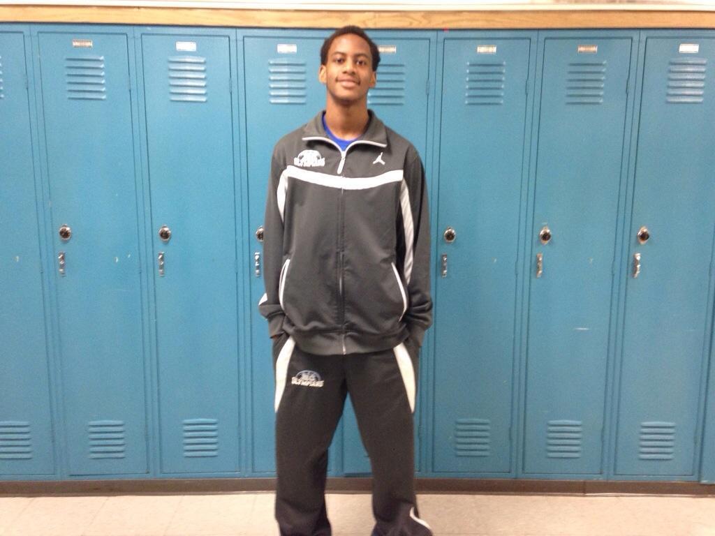 William Berry, senior boys varsity basketball player.