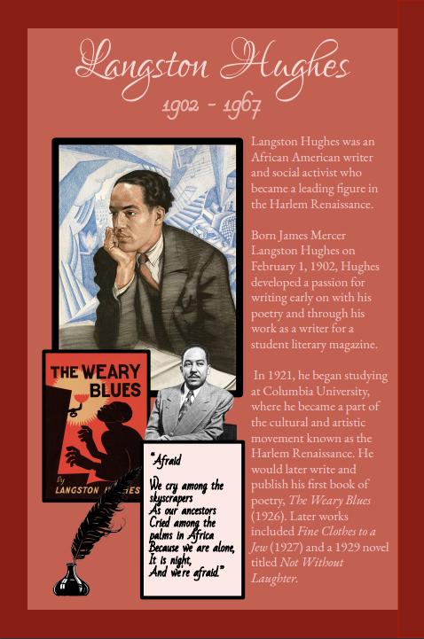 Profiles in Black History- Langston Hughes